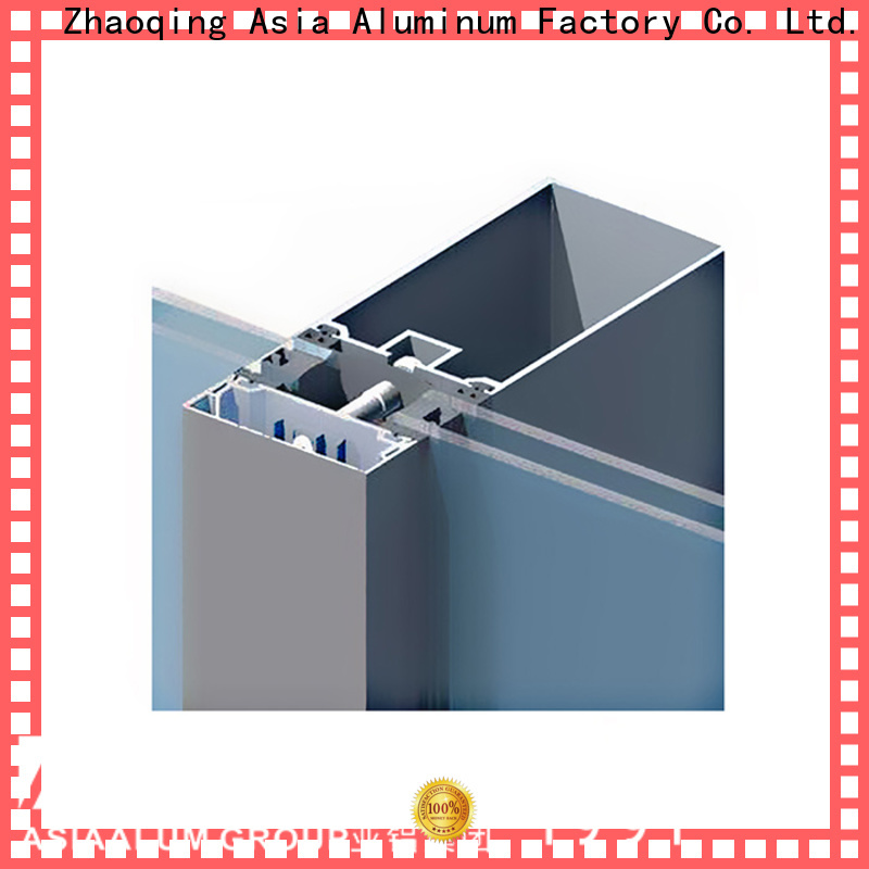 AAG anodized curtain wall frame manufacturer for glass wall