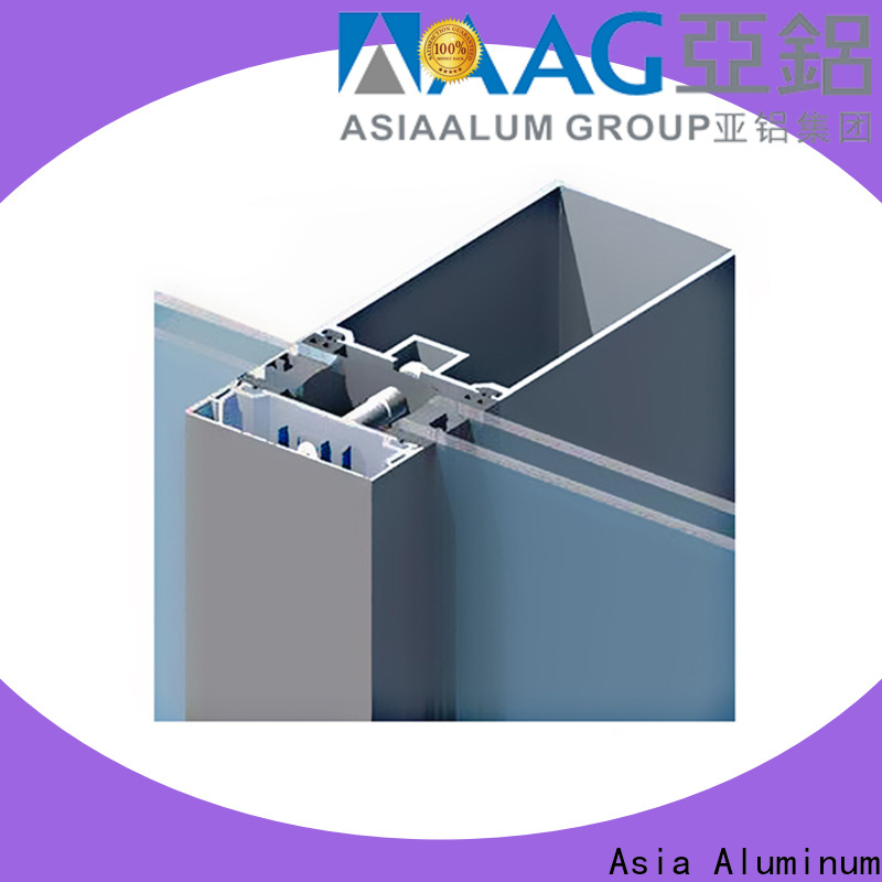 AAG popular curtain wall frame wholesale for glass wall