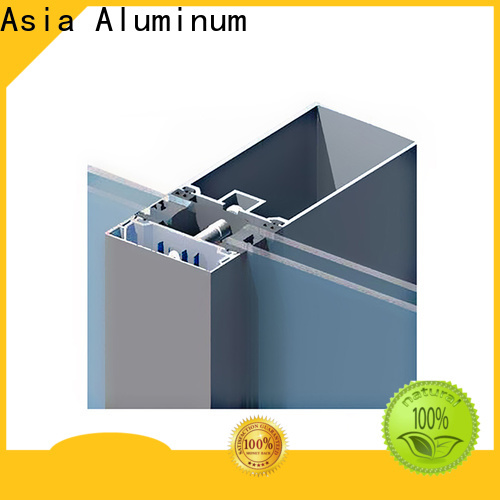 electrophoretic curtain wall frame supplier for glass wall