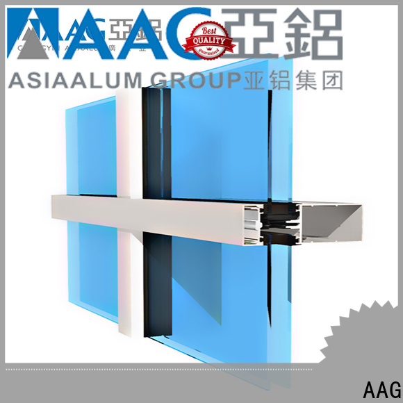 AAG safety design extruded aluminum profiles discount for commercial buiding