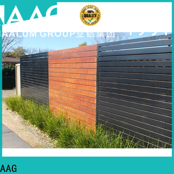 AAG privacy home depot aluminum fence provider for balcony