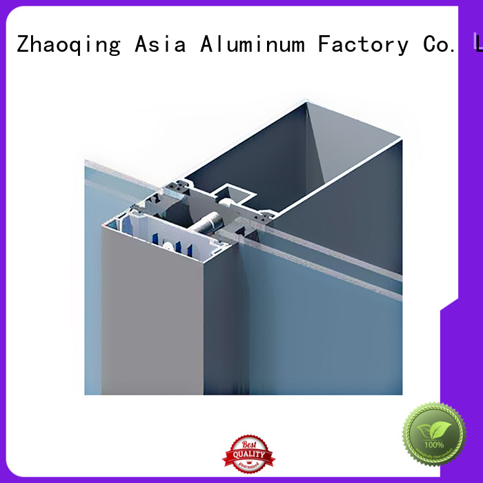 AAG anodized curtain wall frame supplier for decoration