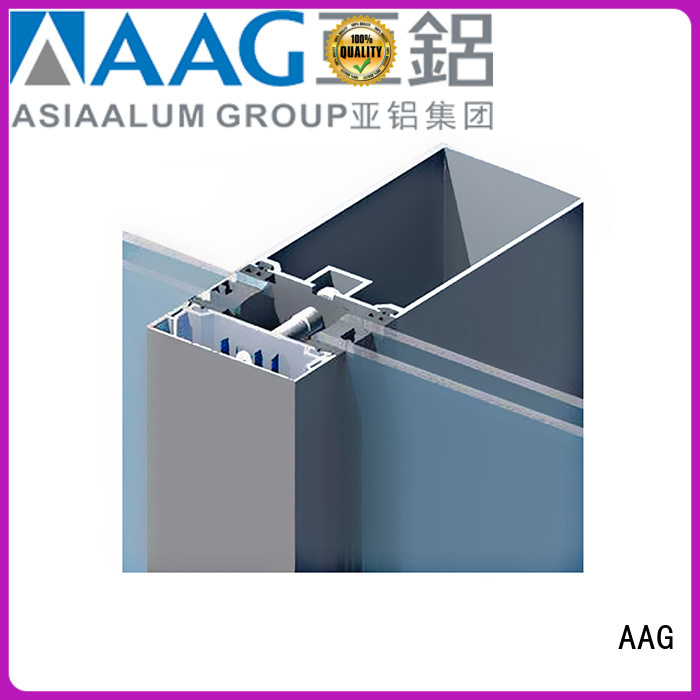 AAG curtain wall frame supplier for buildings