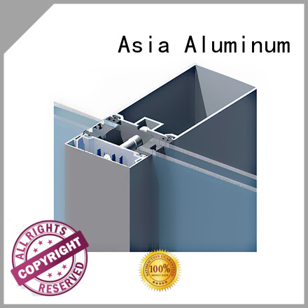 AAG anodized curtain wall frame wholesale for decoration