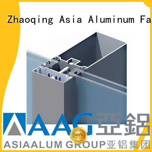 AAG stable curtain wall aluminum frame for glass wall