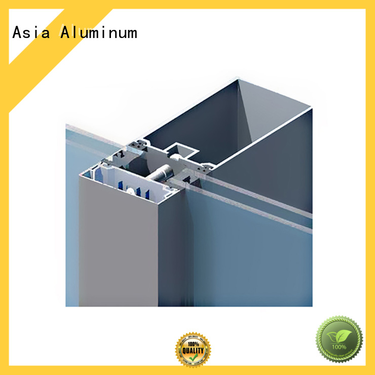AAG curtain wall frame manufacturer for glass wall