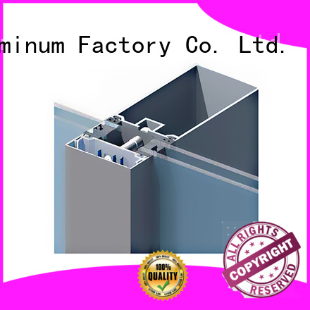 AAG quality curtain wall frame supplier for glass wall